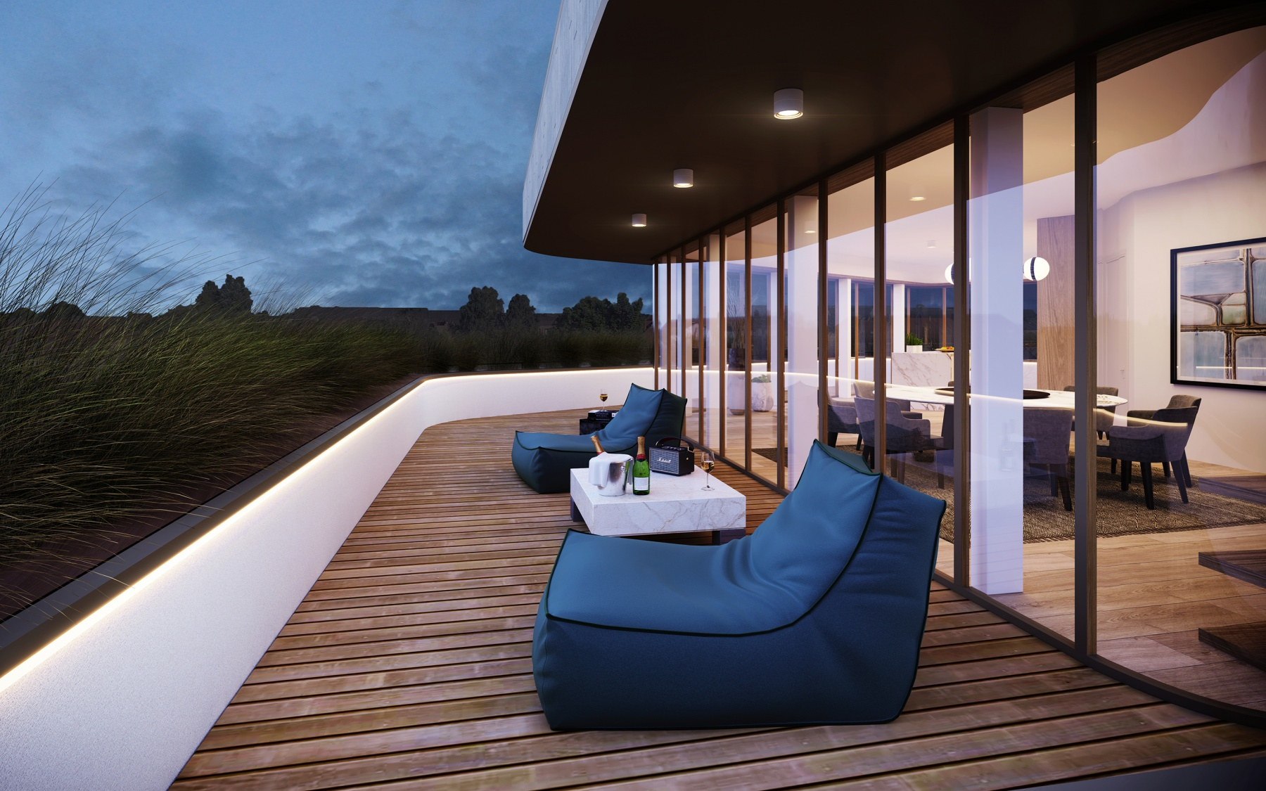 Penthouse duplex neuf à Luxembourg-Belair