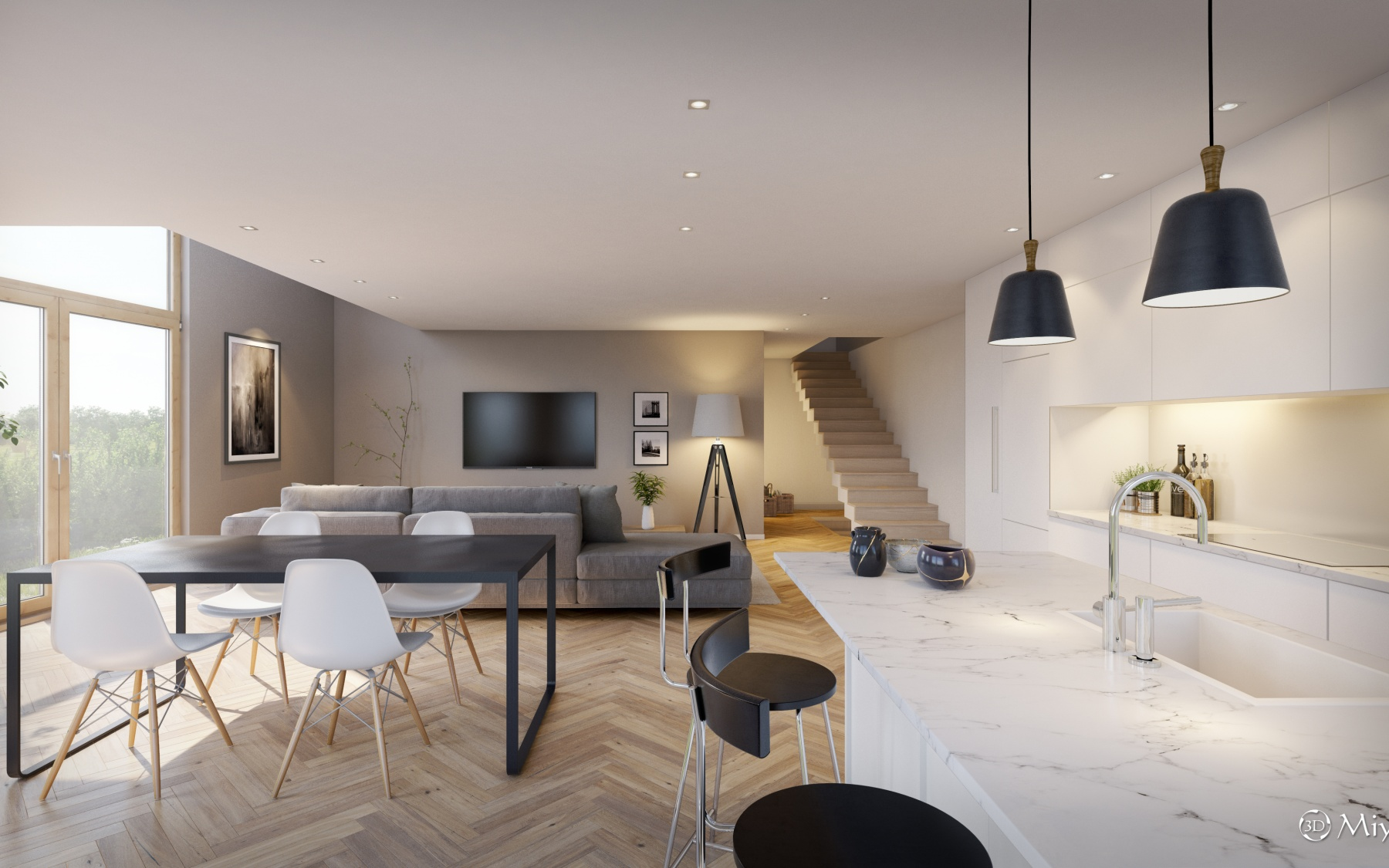 New duplex apartment in Luxembourg-Bonnevoie