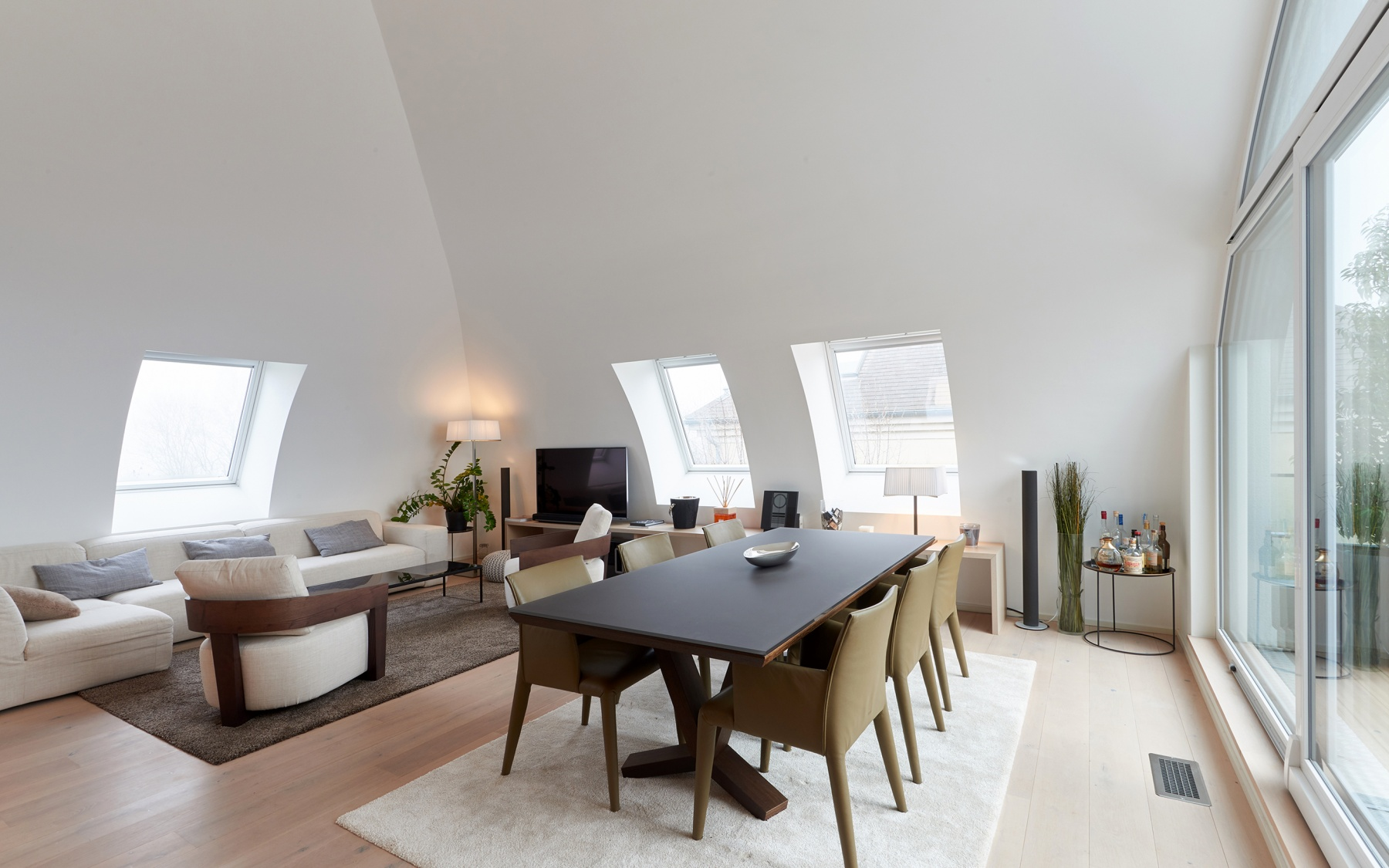 Furnished penthouse in Luxembourg-Kirchberg