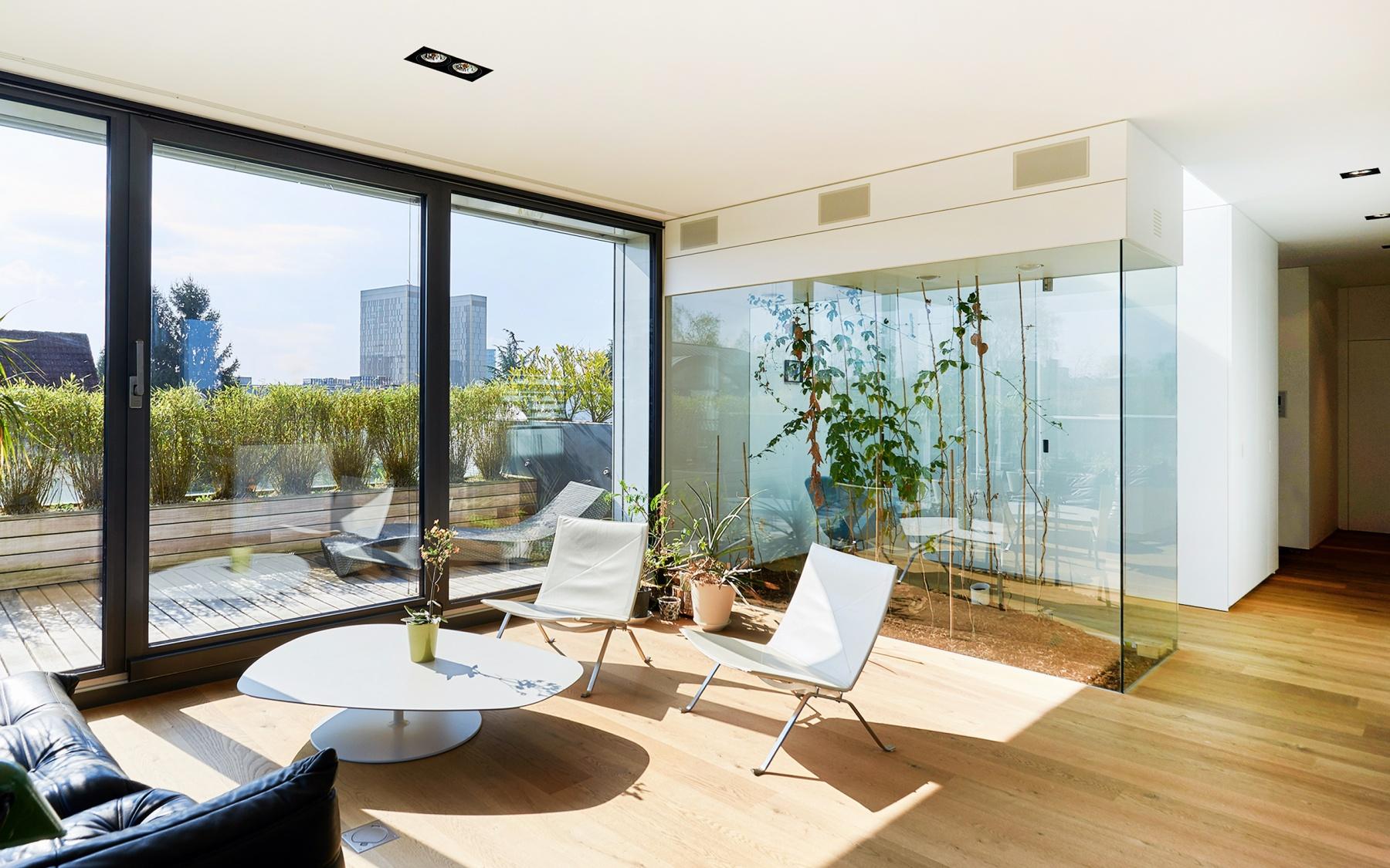 Penthouse d'architecte meublé à Luxembourg-Kirchberg